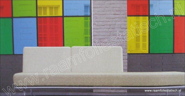 Uni-kleuren-raamfolie-transparant