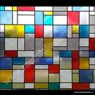 Raamfolie Mondriaan 45cm x 2meter