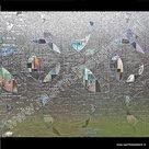 Statische raamfolie Geo statifix 90cm