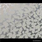 Statische raamfolie witte bladeren print 45cm x 1,5m