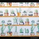statische raamfolie cactus 67,5cm