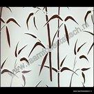 Raamfolie Bamboe Verticaal 67,5cm x 2meter