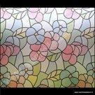 Raamfolie Bloemen kleuren 45cm x 2meter