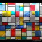 raamfolie kleuren mondriaan
