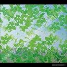 Statische raamfolie groene bladeren 92cm
