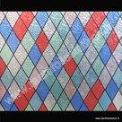 Raamfolie glas in lood ruiten verticaal 45cm