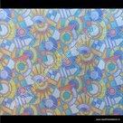 Raamfolie Mozaiek glas in lood verticaal 67,5cm