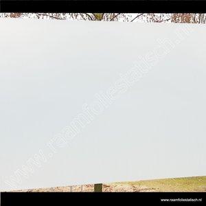 Inkijkwerende statische melkglasfolie mat pr. 45cmx15m standaard