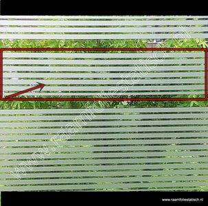 Statische raamfolie strepen strook d-c-fix 15cm x 2meter