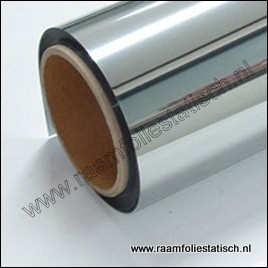 Raamfolie zonwerend zilver / spiegel