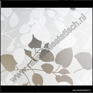 D-c-fix Static premium raamfolie witte bladeren Amena 67,5cm
