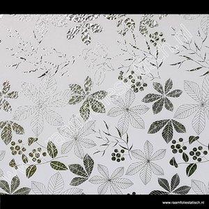 Statische raamfolie bladeren wit 90cmx1,5m