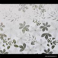 Statische raamfolie bladeren wit 90cm