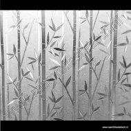 Statische raamfolie Bamboe verticaal 90cmx1,5m db
