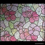 raamfolie bloemen breed