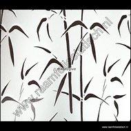 Statische raamfolie bamboe verticaal 90cmx1,5m