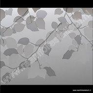 Statische raamfolie grijs / witte bladeren 46cm