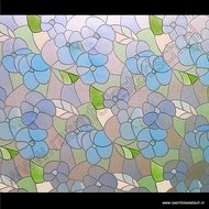 Statische raamfolie Bloemen blauw 67,5cmx1,5m